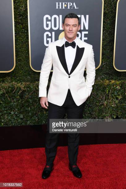 Luke Evans attends the 76th Annual Golden Globe Awards at The Beverly Hilton Hotel on January 6 2019 in Beverly Hills California