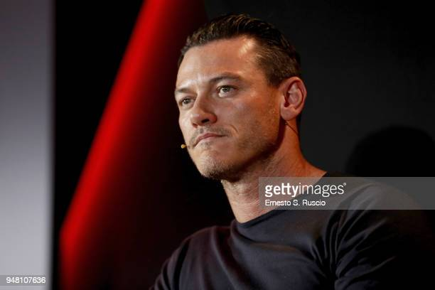 Luke Evans attends The Alienist panel during Netflix 'See What's Next' event at Villa Miani on April 18 2018 in Rome Italy