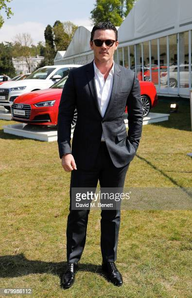 Luke Evans attends the Audi Polo Challenge at Coworth Park on May 7 2017 in Ascot United Kingdom
