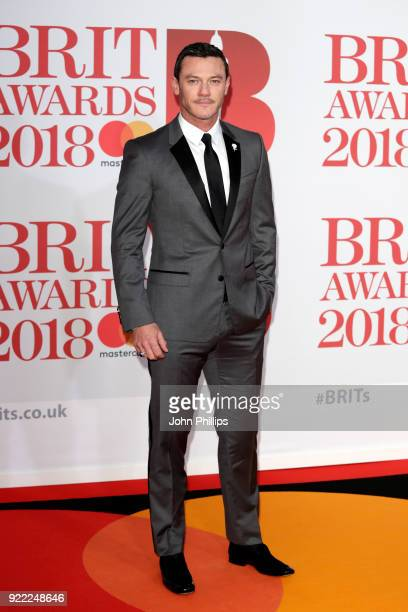 AWARDS 2018*** Luke Evans attends The BRIT Awards 2018 held at The O2 Arena on February 21 2018 in London England