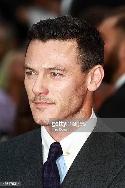 Luke Evans attends the Dracula Untold UK Premiere at Odeon Leicester Square on October 1 2014 in London England