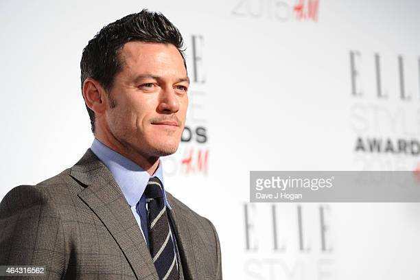 Luke Evans attends the Elle Style Awards 2015 at Sky Garden @ The Walkie Talkie Tower on February 24 2015 in London England