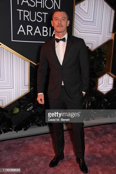 Luke Evans attends the Fashion Trust Arabia Prize awards ceremony on March 28, 2019 in Doha, Qatar.
