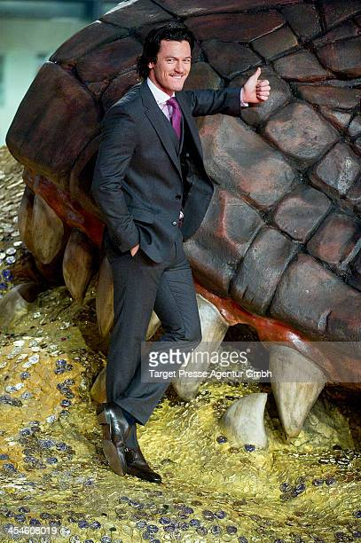 Luke Evans attends the German premiere of the film 'The Hobbit The Desolation Of Smaug' at Sony Centre on December 9 2013 in Berlin Germany