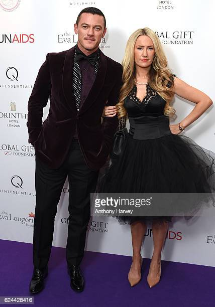 Luke Evans attends the Global Gift Gala London on November 19 2016 in London United Kingdom