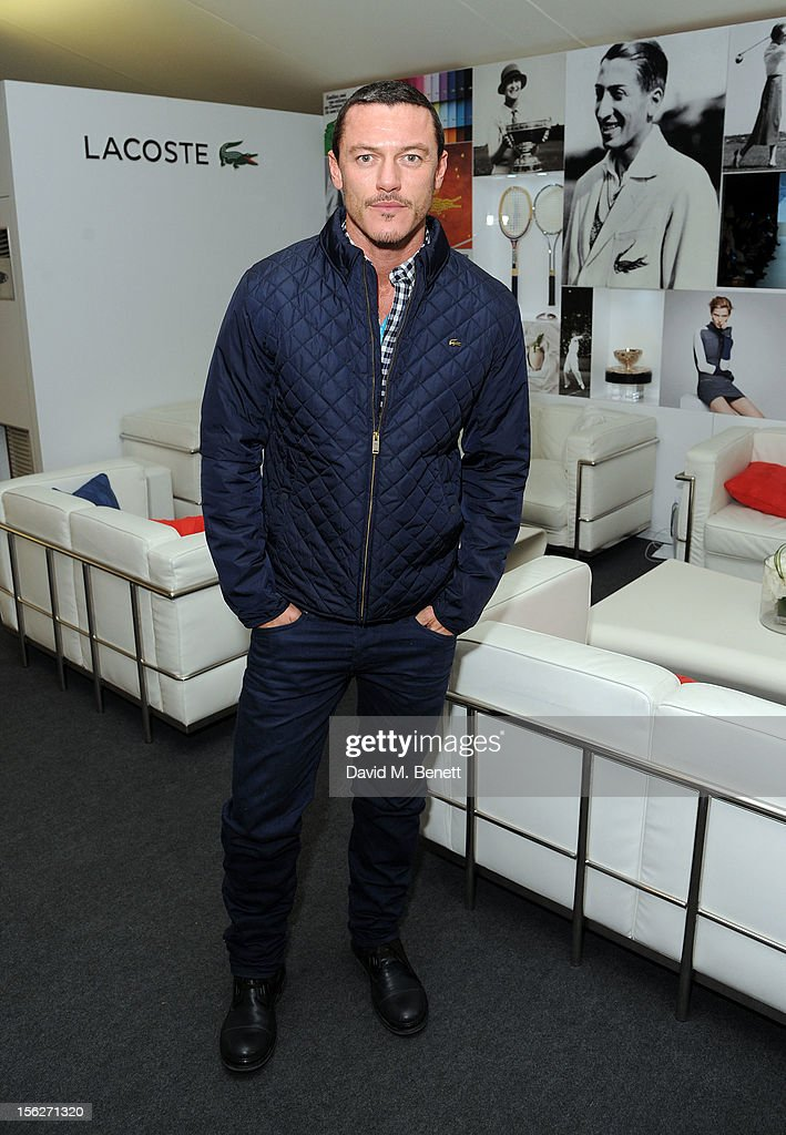 Luke Evans attends the Lacoste VIP lounge during day eight of the ATP World Finals at the O2 Arena on November 12, 2012 in London, England.