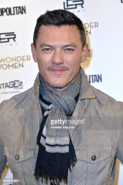 Luke Evans attends the 'My Wonder Women' Paris premiere at Le Grand Rex on April 9 2018 in Paris France