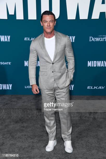 Luke Evans attends the premiere of Lionsgate's Midway at Regency Village Theatre on November 05 2019 in Westwood California