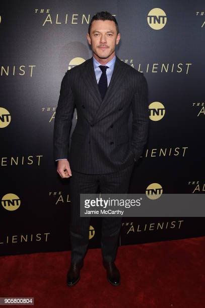 Luke Evans attends the premiere of TNT's 'The Alienist' at iPic Cinema on January 16 2018 in New York City
