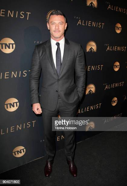 Luke Evans attends the premiere of TNT's 'The Alienist' on January 11 2018 in Los Angeles California