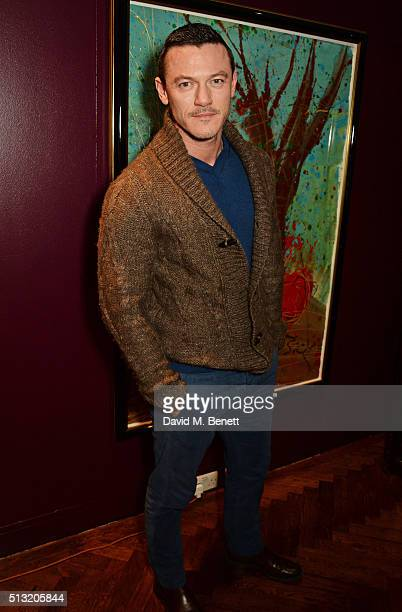Luke Evans attends the press night after party for The Donmar's production of 'Welcome Home Captain Fox' at The Hospital Club on March 1 2016 in...