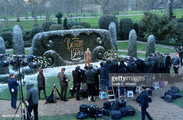 Luke Evans attends UK launch event for Disney's 'Beauty And The Beast' at Spencer House on February 23 2017 in London England