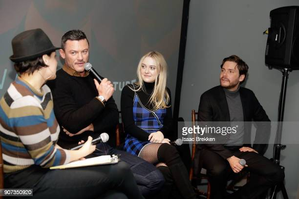 """Luke Evans, Dakota Fanning and Daniel Bruhl answer questions following a screening of """"The Alienist"""" presented by Vulture + TNT during Sundance Film..."""