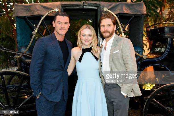 Luke Evans Dakota Fanning and Daniel Bruhl attend Emmy For Your Consideration Red Carpet Event For TNT's 'The Alienist' Inside at Wallis Annenberg...