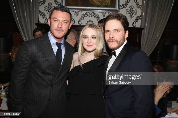 Luke Evans Dakota Fanning and Daniel Bruhl attend New York Premiere after party for TNT's 'The Alienist' on January 16 2018 in New York City