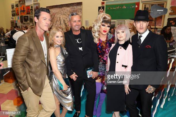 Luke Evans Kylie Minogue DJ Fat Tony Jodie Harsh Kelly Osbourne and Jimmy Q attend The Royal Academy Of Arts Summer Exhibition Preview Party at Royal...