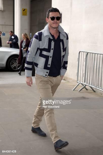 Luke Evans seen at BBC Radio One on February 23 2017 in London England