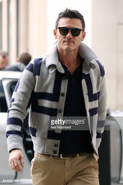 Luke Evans seen at BBC Radio One on February 23 2017 in London England