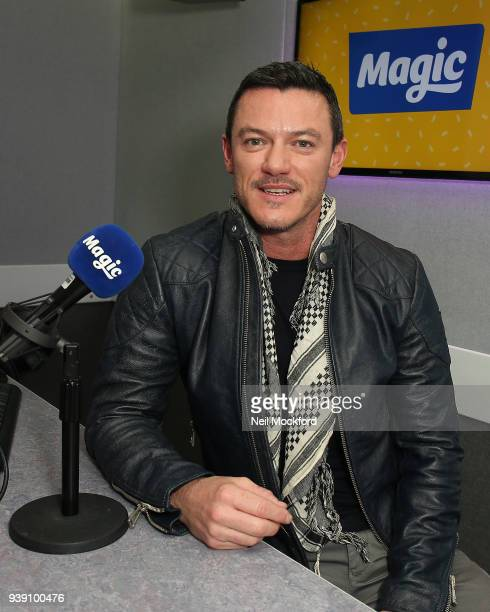 Luke Evans visits Tom Price and Emma B at Magic Radio on March 28 2018 in London England