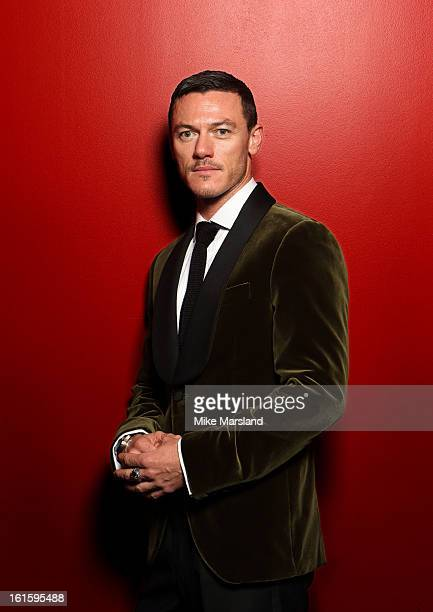 Luke Evens poses in the portrait studio at the Pre-Bafta party hosted by EE and Esquire ahead of the 2013 EE British Academy Film Awards at The Savoy...