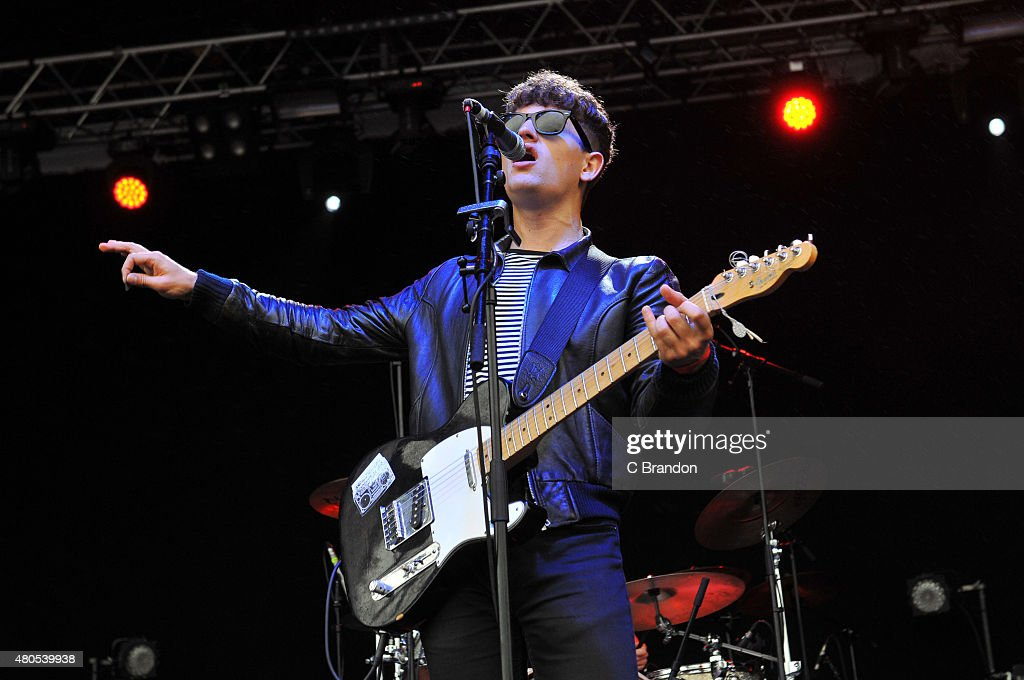 Luke Fenlon of Sugarmen perform on stage during Kew The Music at Kew Gardens on July 12, 2015 in London, England.