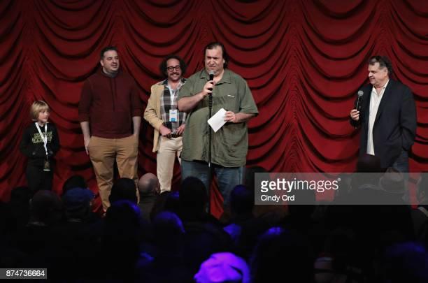 Luke Florenting Greg Stone Ian Fidance Big A and Ron Bennington take part in SiriusXM host Ron Bennington's annual Thanksgiving Special at Hard Rock...