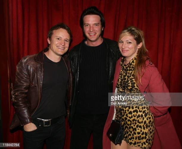 Luke Ford Aden Young and guest attend the after party for the Time Out Sydney Inside Film premier of Animal Kingdom at the Fringe Bar Paddington on...