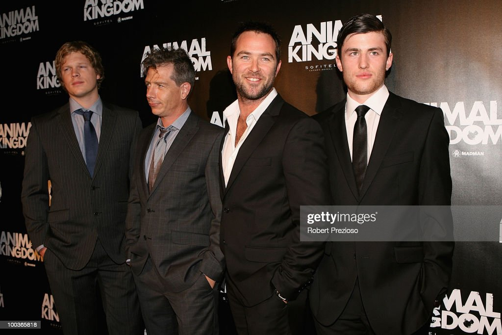 Luke Ford, Ben Mendelsohn, Sullivan Stapleton and James Frecheville arrive at the premiere of 'Animal Kingdom' at Hoyts Melbourne Central on May 24, 2010 in Melbourne, Australia.
