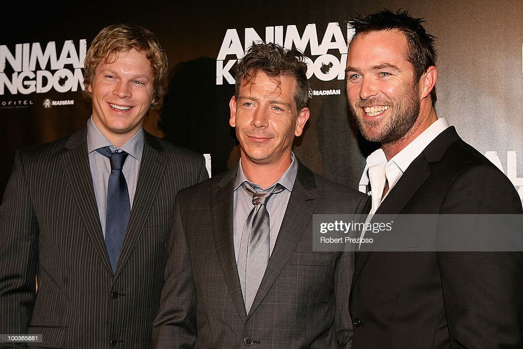 Luke Ford, Ben Mendelsohn, Sullivan Stapleton arrive at the premiere of 'Animal Kingdom' at Hoyts Melbourne Central on May 24, 2010 in Melbourne, Australia.