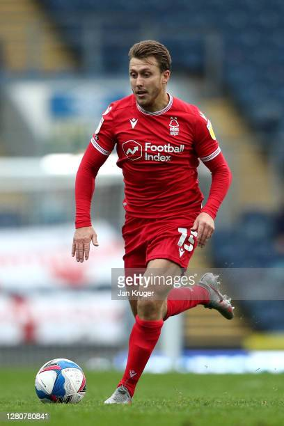 Luke Freeman of Nottingham Forest during the Sky Bet Championship match between Blackburn Rovers and Nottingham Forest at Ewood Park on October 17,...