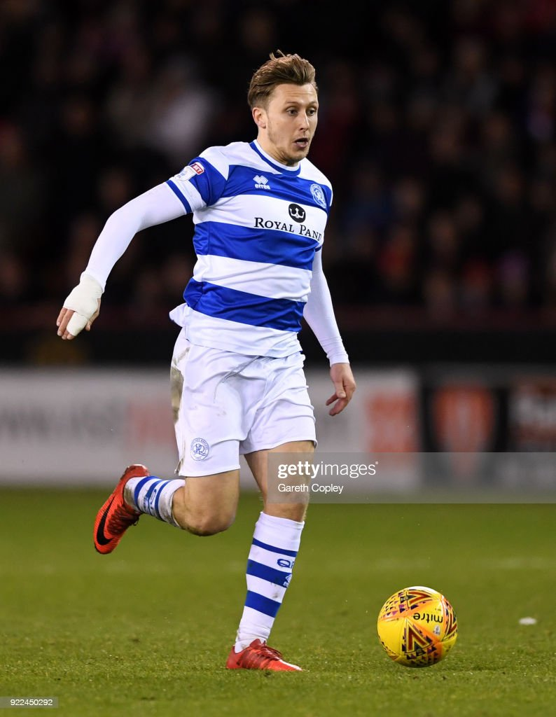 Luke Freeman of QPR during the Sky Bet Championship match between Sheffield United and Queens Park Rangers at Bramall Lane on February 20, 2018 in Sheffield, England.