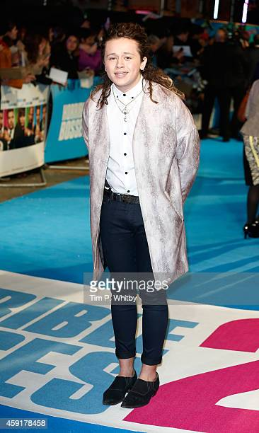 Luke Friend attends the UK Premiere of Horrible Bosses 2 at Odeon West End on November 12 2014 in London England