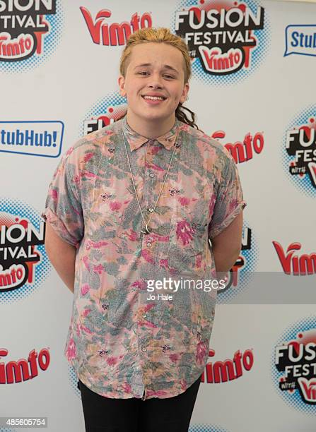 Luke Friend poses in the Press Room at Fusion Festival at Cofton Park on August 28 2015 in Birmingham England