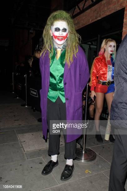 Luke Friend seen arriving at Hallowzeem Party in Shoreditch on October 26 2018 in London England