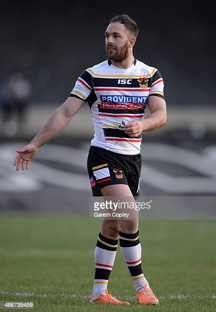 Luke Gale of Bradford Bulls during the pre season friendly match between Bradford Bulls and Castleford Tigers at Odsal Stadium on February 2 2014 in...