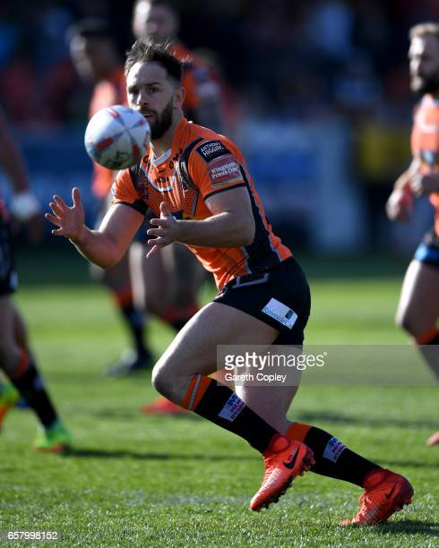 Luke Gale of Castleford during the Betfred Super League match between Castleford Tigers and Catalans Dragons at Wheldon Road on March 26 2017 in...