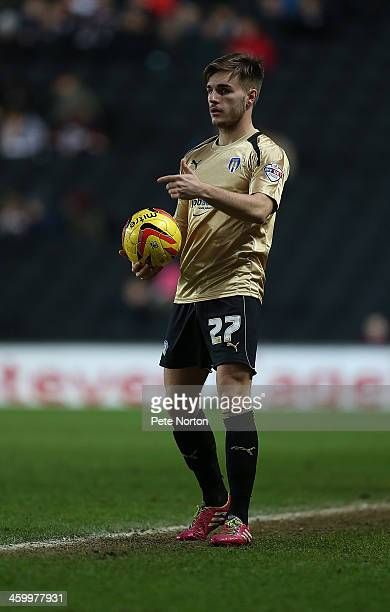 Luke Garbutt of Colchester United in action during the Sky Bet League One match between Milton Keynes Dons and Colchester United at Stadium MK on...