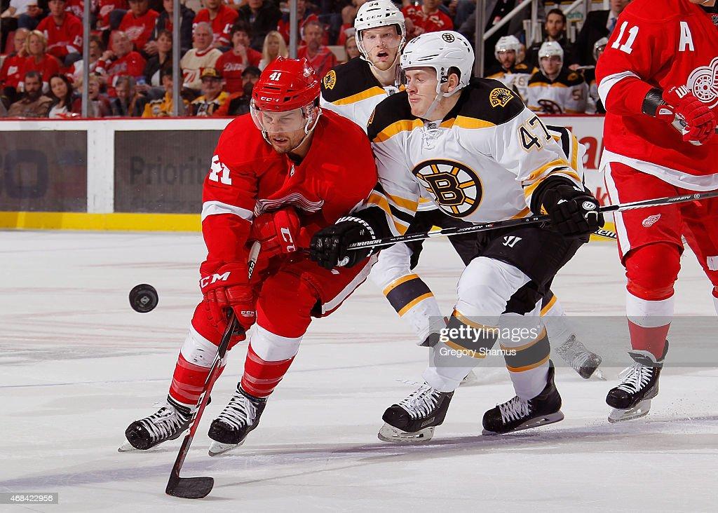 Boston Bruins v Detroit Red Wings : News Photo