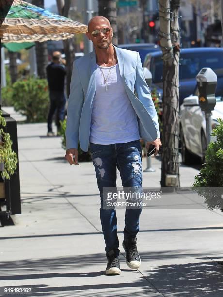 Luke Goss is seen on April 20 2018 in Los Angeles CA