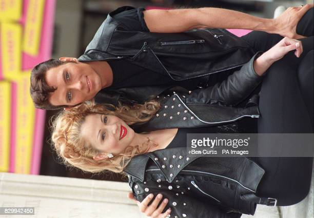 Luke Goss who will star as 'Danny' in the musical Grease with costar Marissa Dunlop playing 'Sandy' starting tonight at the Cambridge Theatre in...