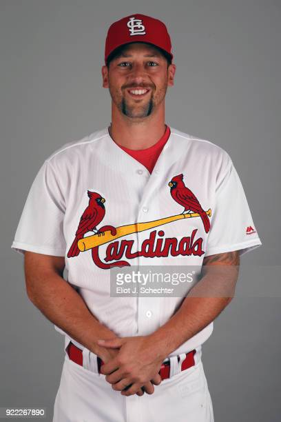 Luke Gregerson of the St Louis Cardinals poses during Photo Day on Tuesday February 20 2018 at Roger Dean Stadium in Jupiter Florida