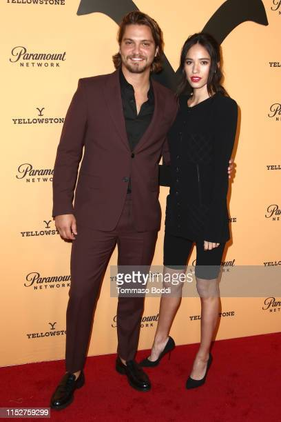 Luke Grimes and Kelsey Asbille attend Premiere Party For Paramount Network's Yellowstone Season 2 at Lombardi House on May 30 2019 in Los Angeles...