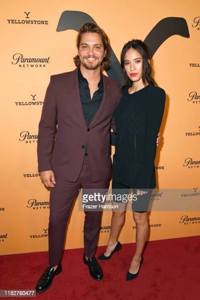 Luke Grimes and Kelsey Chow attend Paramount Network's Yellowstone Season 2 Premiere Party at Lombardi House on May 30 2019 in Los Angeles California