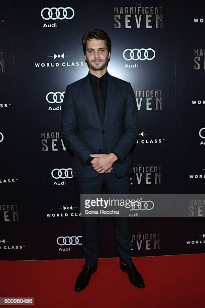 Luke Grimes attends PostScreening Event For The Magnificent Seven CoHosted By Audi During The Toronto International Film Festival at Storys Building...