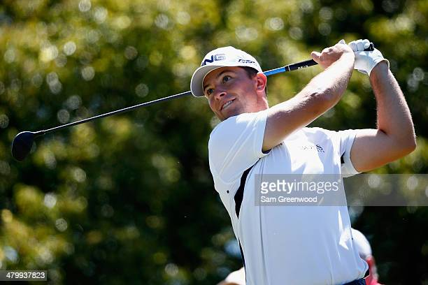 Luke Guthrie hits a tee shot on the 6th hole during the second round of the Valspar Championship at Innisbrook Resort and Golf Club on March 14, 2014...