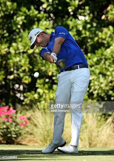 Luke Guthrie plays his shot from the 11th tee during round one of THE PLAYERS Championship at the TPC Sawgrass Stadium course on May 7 2015 in Ponte...