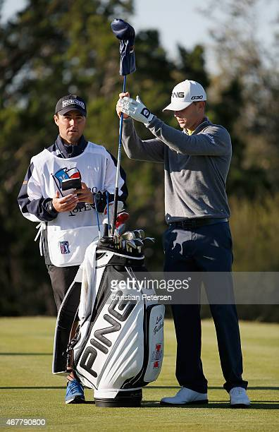 Luke Guthrie stands on the 15th hole during round two of the Valero Texas Open at TPC San Antonio AT&T Oaks Course on March 27, 2015 in San Antonio,...