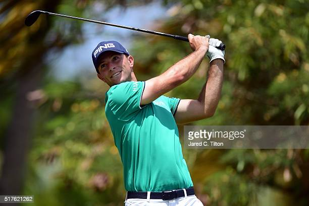 Luke Guthrie tees off on the fourth hole during the third round of the Puerto Rico Open at Coco Beach on March 26 2016 in Rio Grande Puerto Rico