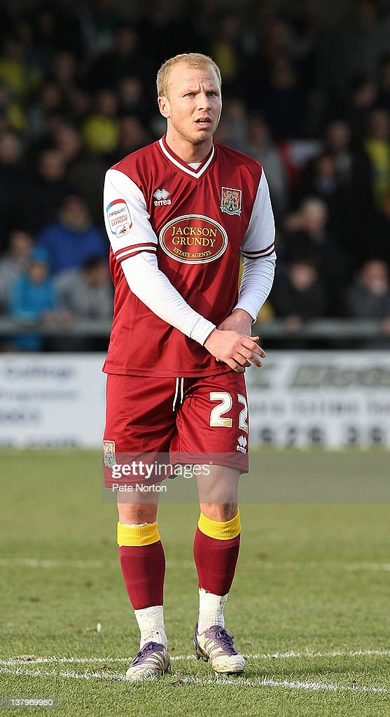 Luke Guttridge of Northampton Town in action during the npower League Two match between Torquay United and Northampton Town at Plainmoor on January 28, 2012 in Torquay, England.