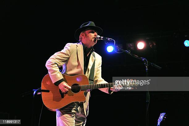 Luke Haines performs on stage at the Queen Elizabeth Hall on July 13 2011 in London United Kingdom
